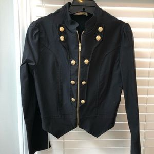 Jackets & Blazers - Large black soldier style fitted jacket